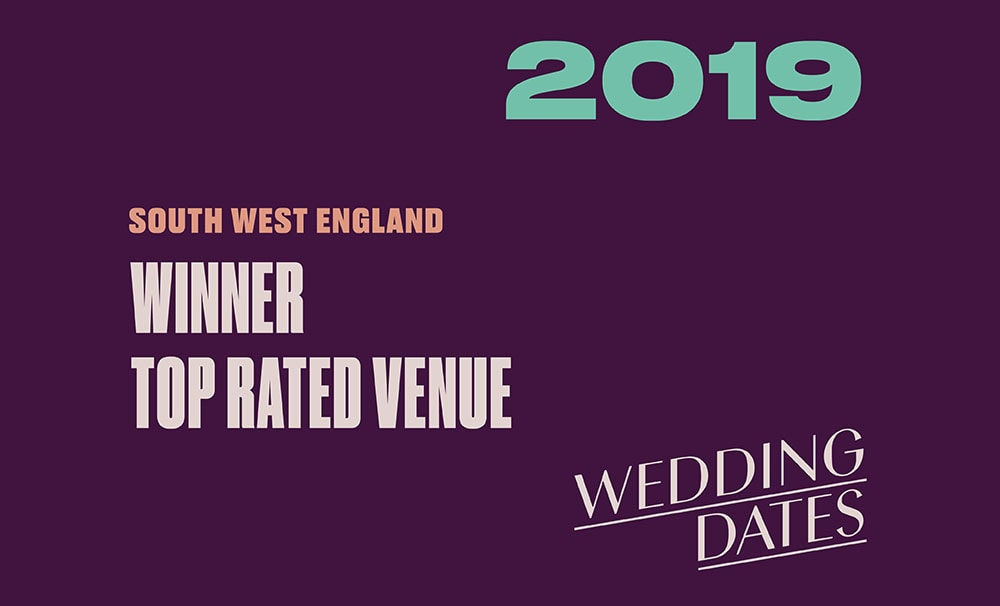 WINNERS of the Wedding Dates 2019 South West Awards for Top Rated Venues